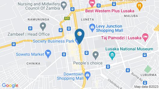 Hilton Garden Inn Lusaka Society Business Park Map