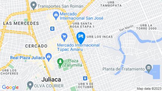 Hotel Rayos del Sol Map
