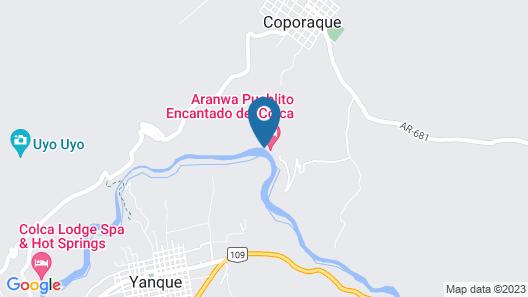 Aranwa Pueblito Encantado del Colca Map