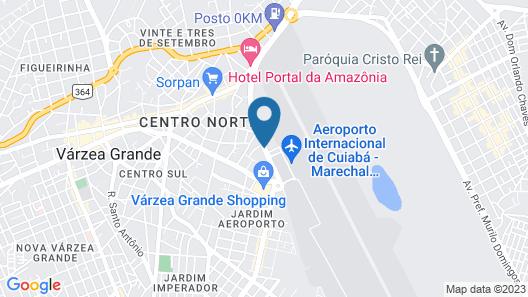 Slim Cuiabá Aeroporto by Slaviero Hotéis Map