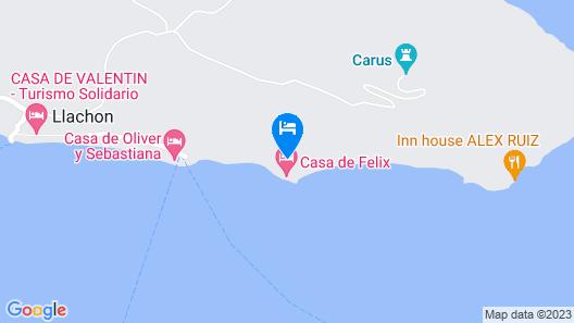 Hospedaje Munay Rosas Map