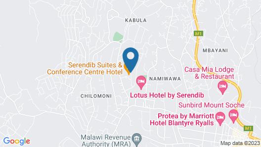 Serendib Suites & Conference Center Map