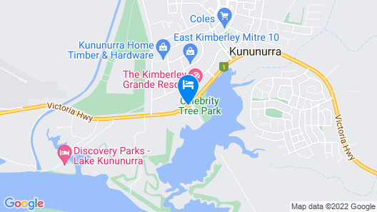 Freshwater East Kimberley Apartments Map