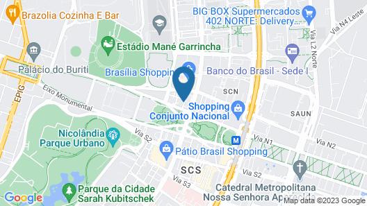 Lets Idea Brasília Hotel Map