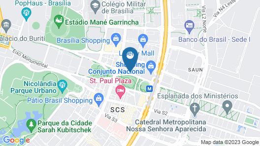 Kubitschek Plaza Hotel Map