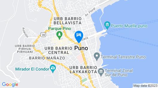 El Manzano Hostel Map