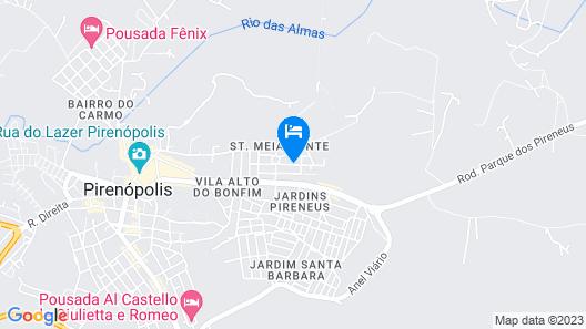 Pousada Flores do Cerrado Map