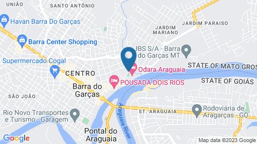 Hotel Odara Araguaia Map