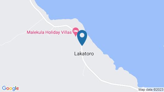 Mahun on the Lagoon Bungalows Map