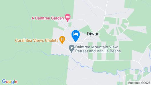 Daintree Peaks ECO Stays Map