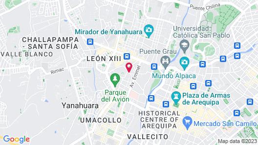 Posada Nueva España Map