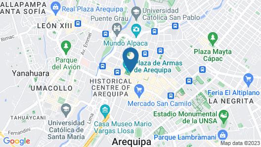 Casa Andina Select Arequipa Plaza Map