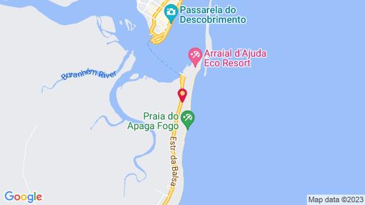 Ouro Sobre Azul Apart Hotel Map