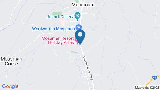 Mossman Motel Holiday Villas Map