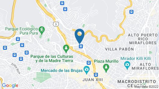 The Rooftop Hostel Bolivia Map