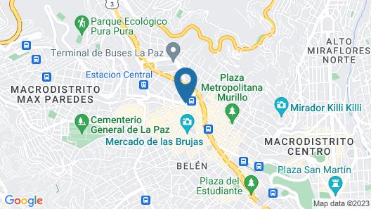 Loki La Paz Hostel Map