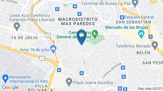 Paitití Hostel Map