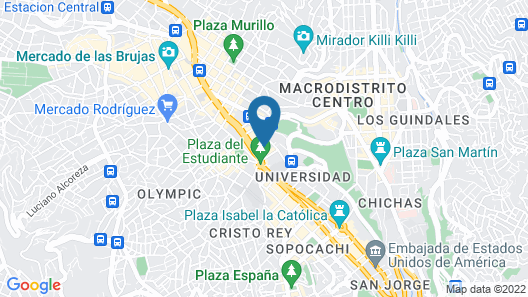 Hotel Europa La Paz Map