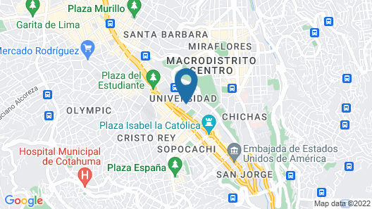 Camino Real Aparthotel, Downtown Map
