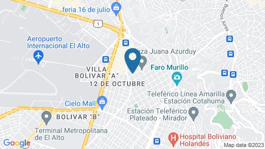 Hotel Espectacular Map