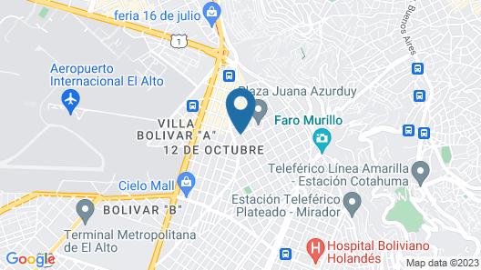 Gran Copacabana Hostal Map
