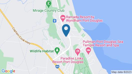 Niramaya Port Douglas 3 and 4 Bedroom Villas Map