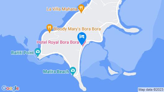 Hotel Royal Bora Bora Map