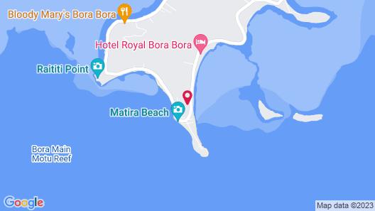 Beautiful Beach House on Famous Matira Beach! Map