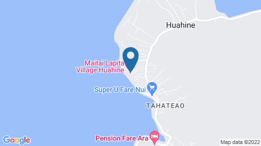 Maitai Lapita Village Huahine Map