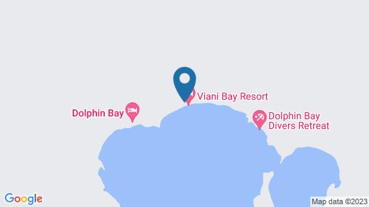 Viani Bay Resort at Dive Academy Fiji Map