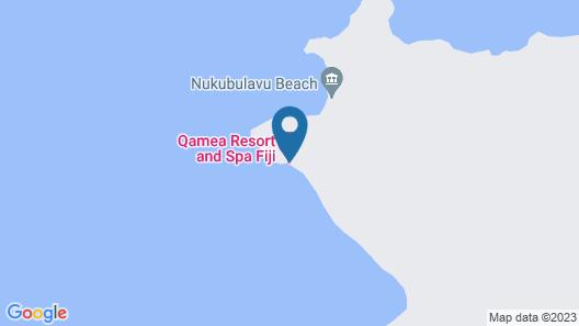 Qamea Resort and Spa Fiji Map