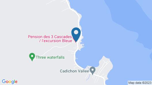 Pension les 3 cascades Map