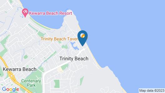 Beachfront Apartments on Trinity Beach Map