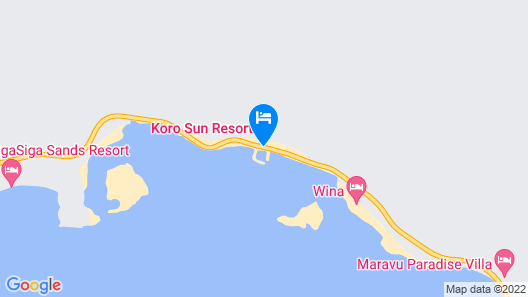 Koro Sun Resort Map