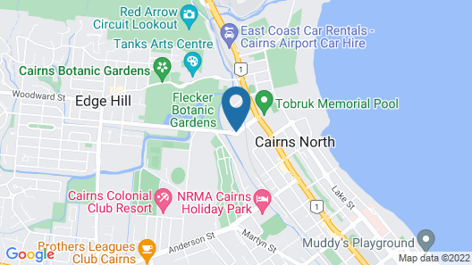 The Lakes Resort Cairns Map