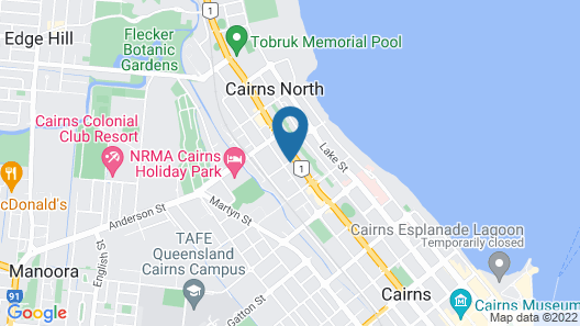 Cairns Holiday Lodge Map