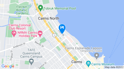 Cairns Queenslander Hotel & Apartments Map