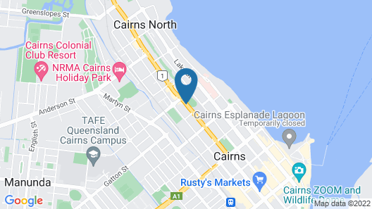 Cairns City Palms Map