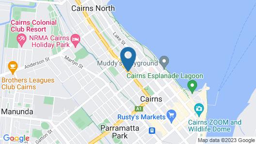 Cairns Rainbow Resort Map