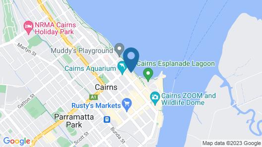 Cairns Ocean View Apartment in Aquarius Map