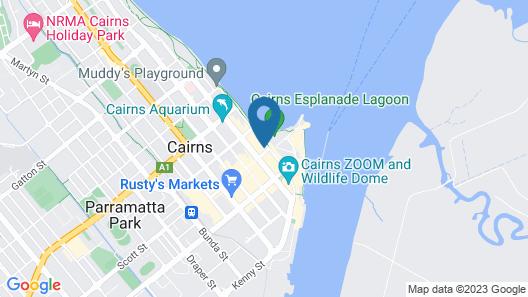 Oaks Cairns Hotel Map