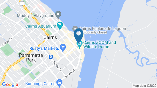 Pacific Hotel Cairns Map