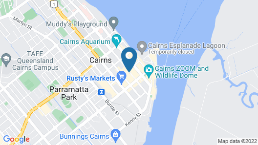 Hides Hotel Cairns Map