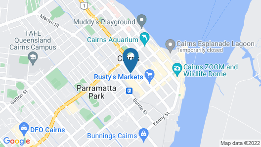 Cairns Central Plaza Apartment Hotel Map