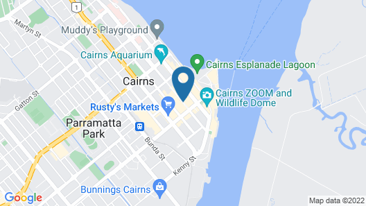 Inn Cairns Boutique Apartments Map