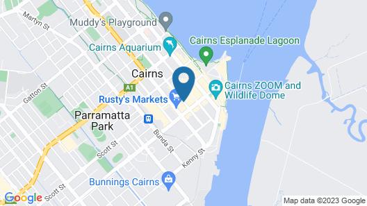 Gilligan's Backpackers Hotel & Resort Map