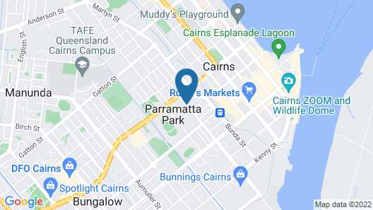Cairns City Backpackers Hostel Map