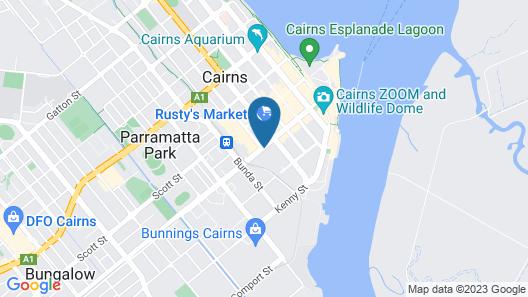 Cairns City Apartments Map