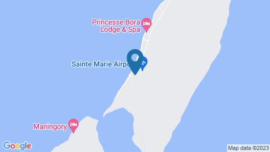 Princesse Bora Lodge & Spa Map