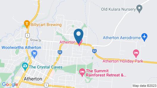 Atherton Motel Map